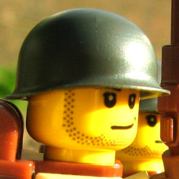 BrickArms US M1 Helmet Steel Pot WW2 Korea Vietnam LEGO