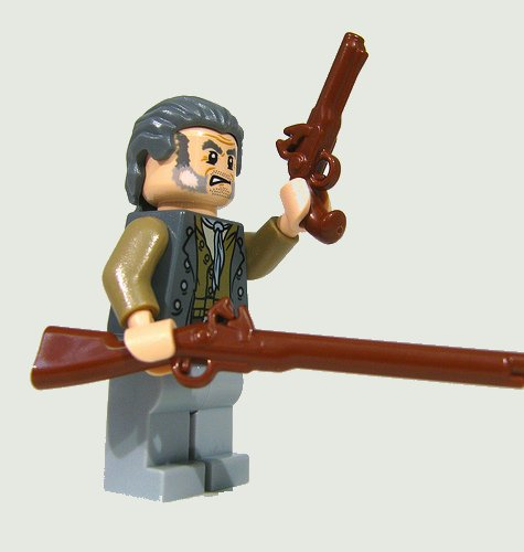 LEGO Lot of 2 Brown Pirate Minifigure Musket Rifle Gun Weapon Accessories