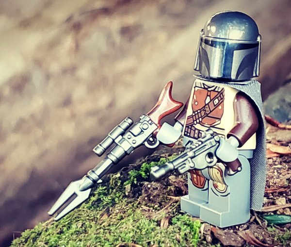 BrickArms Gunmetal Galactic Gunfighter Rifle Weapons for Brick Minifigures
