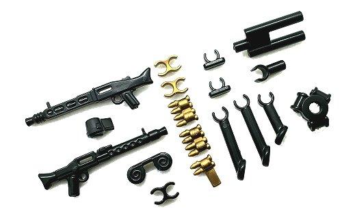 Custom Waffen kompatibel mit LEGO® Figuren BrickArms MG Lafette mit MG42 /& MG34