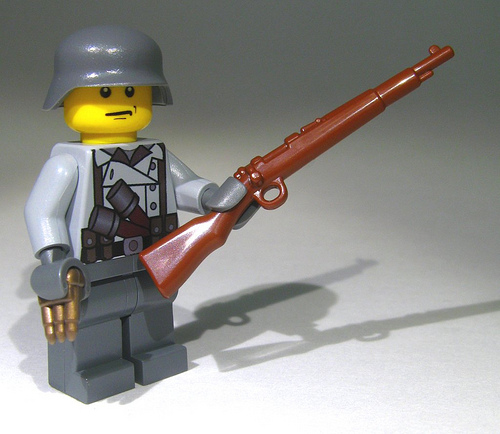 Custom Bricks Lego WW2 WK2 Miniatur K98 Kar98 Sniper 89k