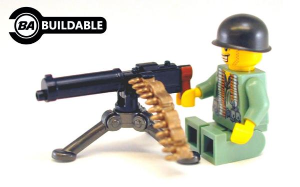 Brickarms M1917a1 Machine Gun Lego Minifigure Weapon