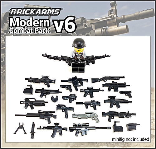 BrickArms Modern Combat v6 Assault Weapons Pack 2017 for Lego Minifigures