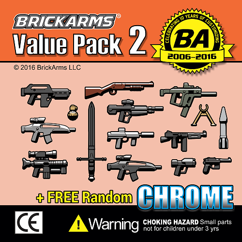 BRICKARMS Value Pack #10 Weapon Pack w// Random Sci Fi Weapon for Minifigures NEW
