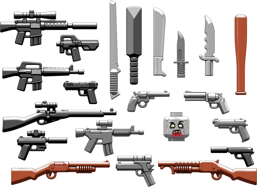 Brickarms Zombie Defense 2016 Pack Lego Minifigure Weapons